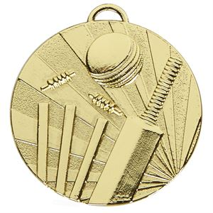 Gold Target Cricket Medal (size: 50mm) - AM1045.01