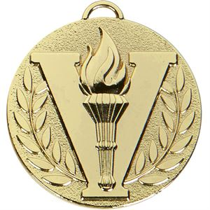 Gold Target Victory Torch Medal (size: 50mm) - AM1051.01