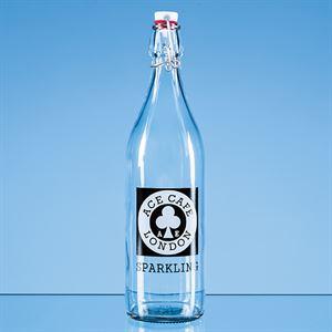 Round White Cap Swing Top Bottle 1ltr = BR15