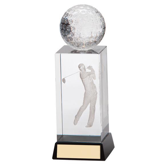 Sterling Golf Crystal Award - CR16220