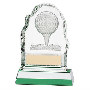 Challenger Golf Ball Crystal Award