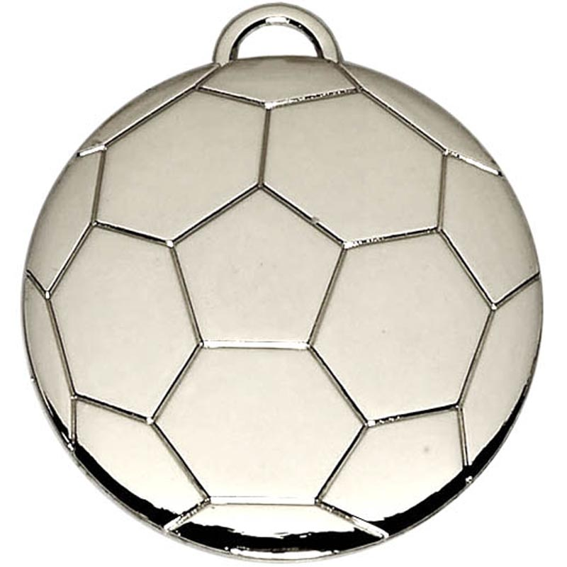 Silver Football Medal (size: 40mm) - AM868S