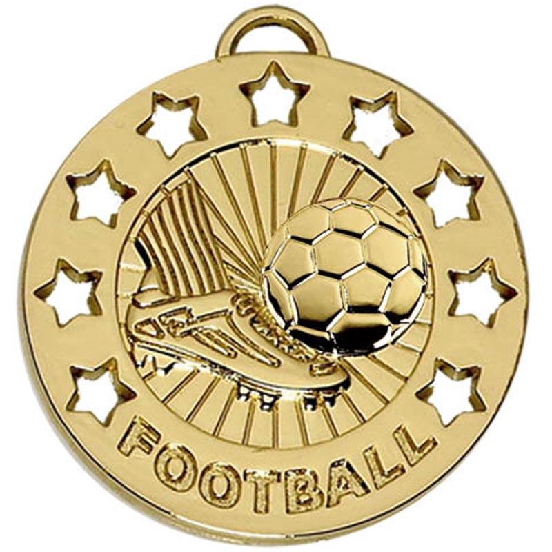 Gold Spectrum Football Medal (size: 40mm) - AM863G