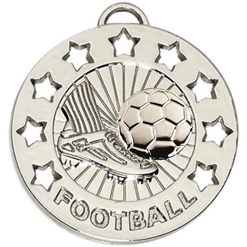 Silver Spectrum Football Medal (size: 40mm) - AM863S