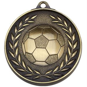 Gold Target Football Medal (size: 50mm) - AM1500.12