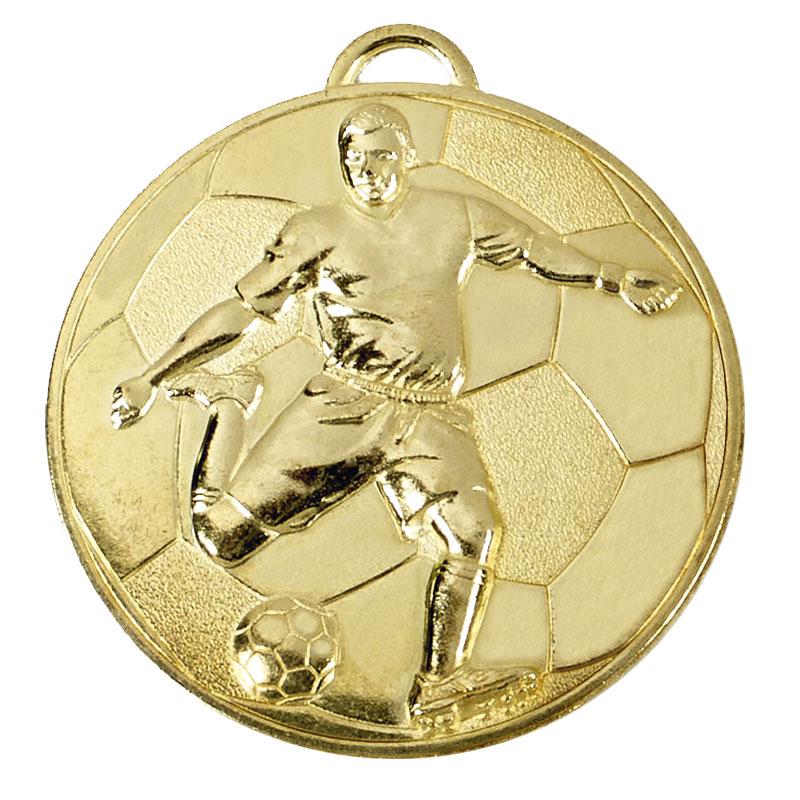 Gold Helix Footballer Medal (size: 60mm) - AM931G