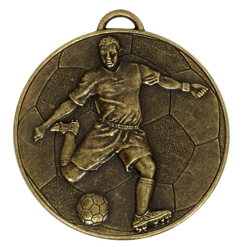 Bronze Helix Footballer Medal (size: 60mm) - AM931B