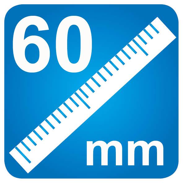 60mm diameter