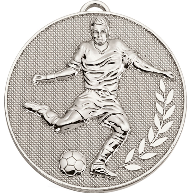 Silver Champion Football Medal (size: 60mm) - AM1079.02