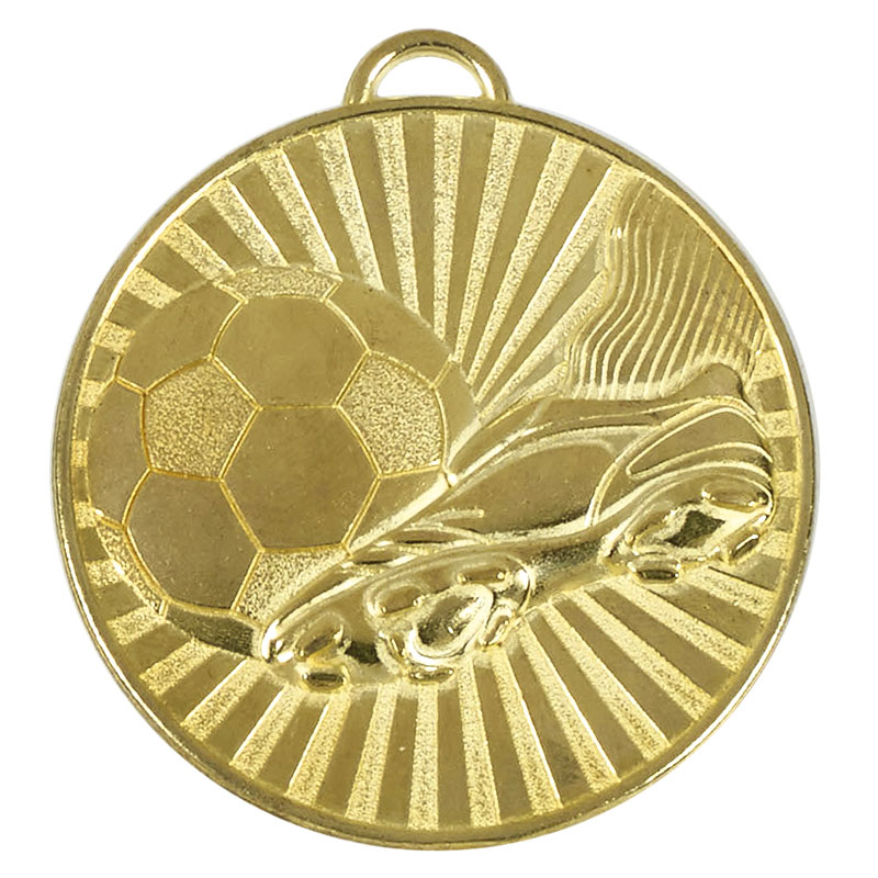 Gold Helix Boot & Ball Medal (size: 60mm) - AM937G