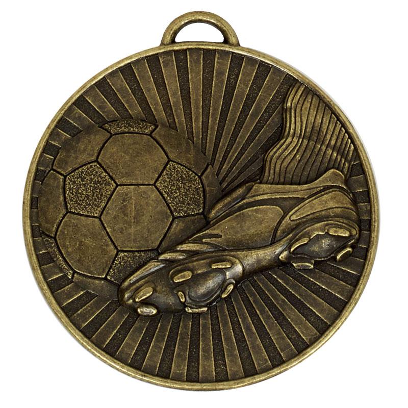 Bronze Helix Boot & Ball Medal (size: 60mm) - AM937B