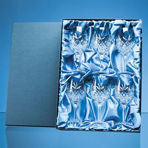 6pc Blenheim Lead Crystal Full Cut Goblet Gift Set