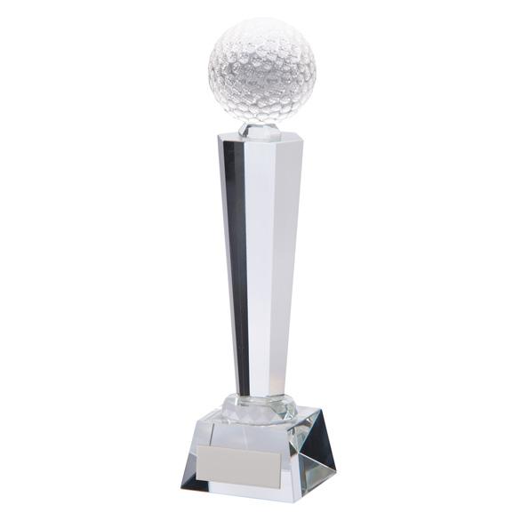 Interceptor Golf Optical Crystal Award - CR17116