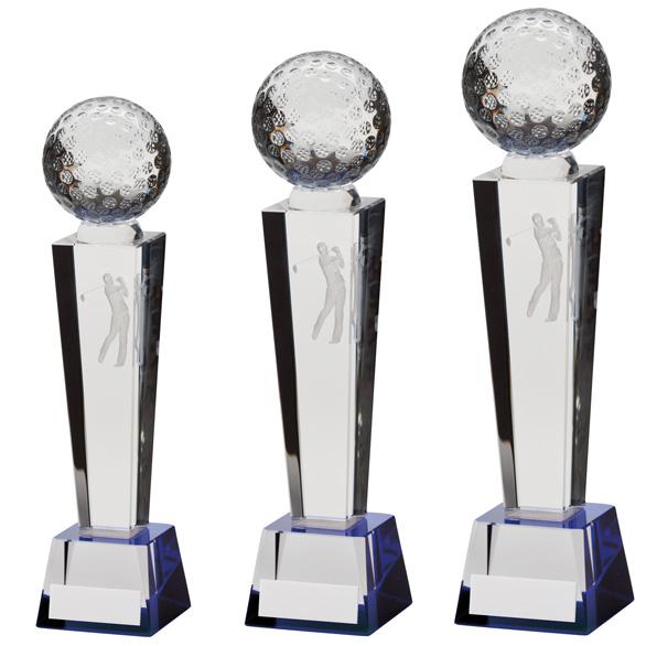 Legend Golf Optical Crystal Award 3 sizes - CR9035