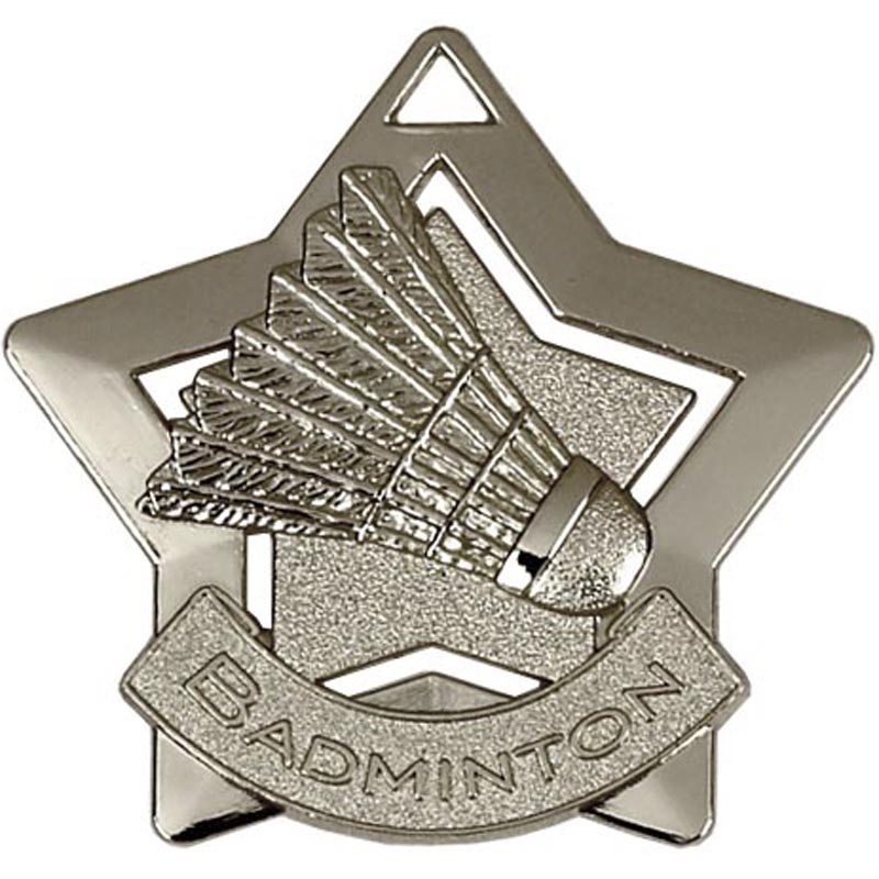 Silver Mini Star Badminton Medal (size: 60mm) - AM720S