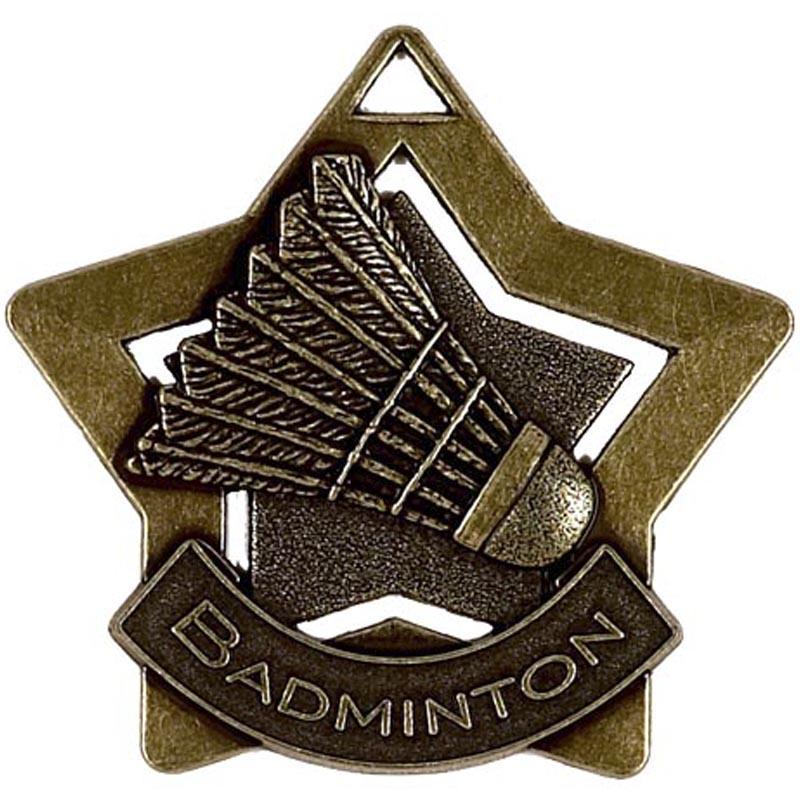 Bronze Mini Star Badminton Medal (size: 60mm) - AM720B