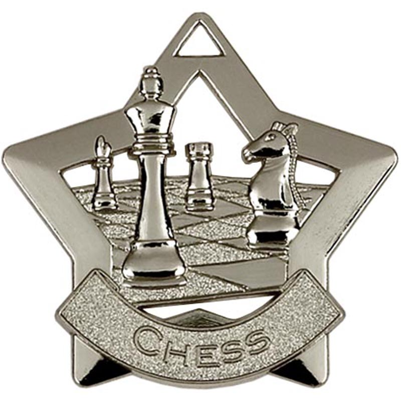 Silver Mini Star Chess (size: 60mm) - AM714S