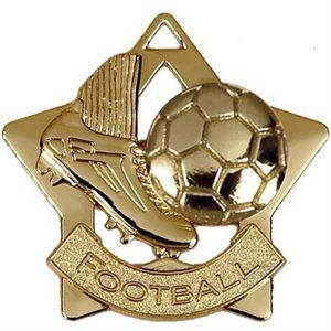 Gold Mini Star Football (size: 60mm) - AM715G