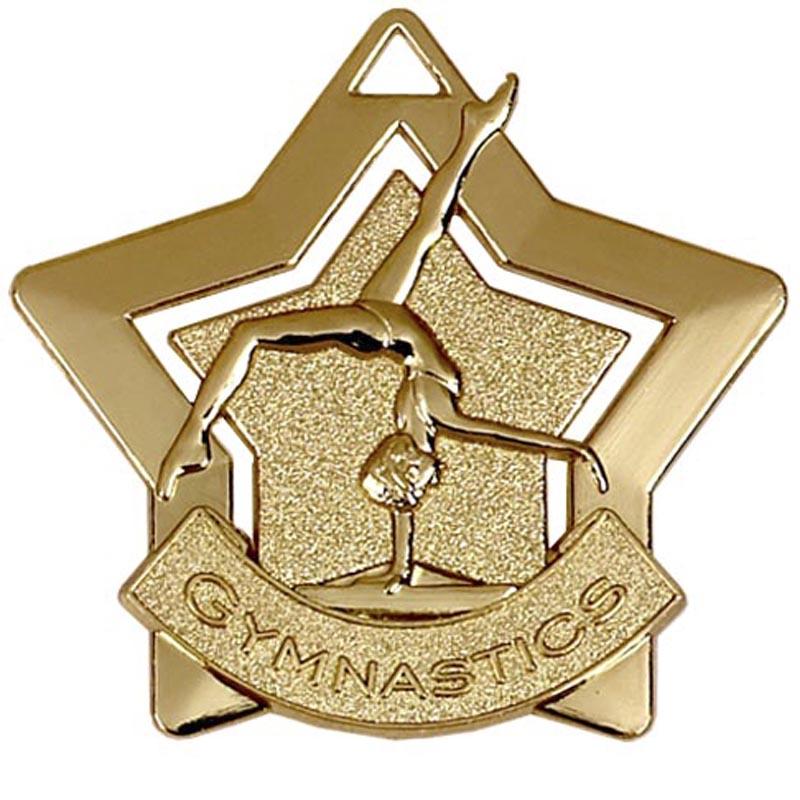 Gold Mini Star Gymnastics (size: 60mm) - AM719G