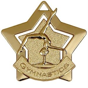 Gold Mini Star Gymnastics (size: 60mm) - AM719G