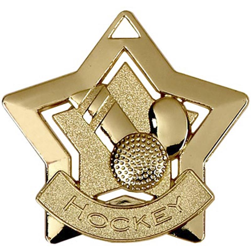 Gold Mini Star Hockey (size: 60mm) - AM721G