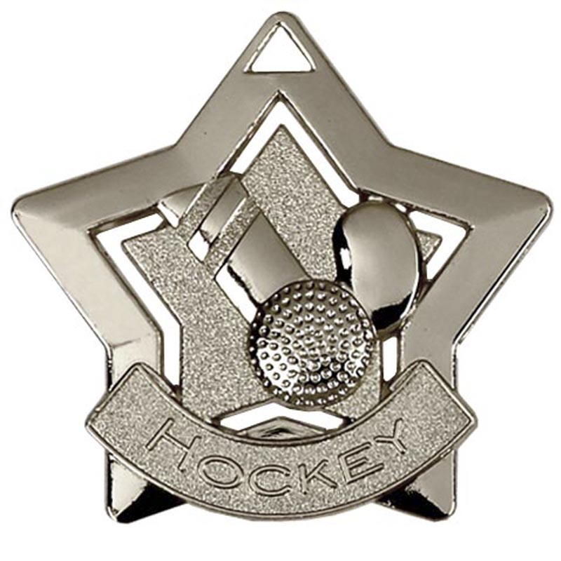 Silver Mini Star Hockey (size: 60mm) - AM721S