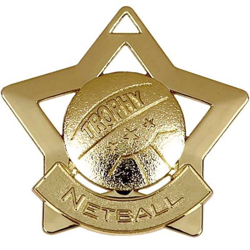 Gold Mini Star Netball (size: 60mm) - AM722G