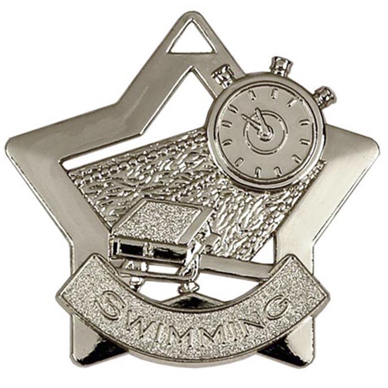 Silver Mini Star Swimming (size: 60mm) - AM718S