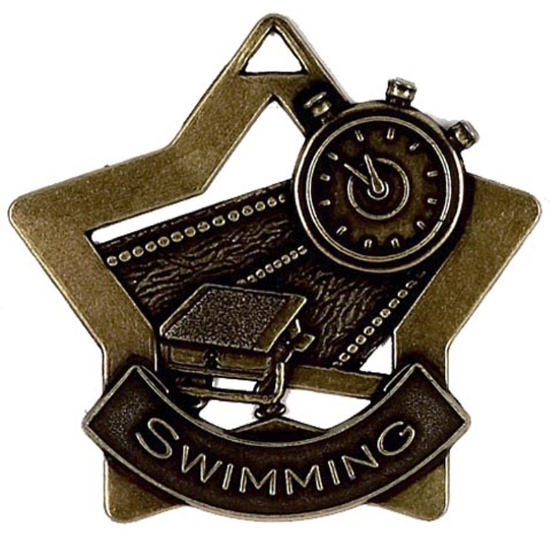 Bronze Mini Star Swimming (size: 60mm) - AM718B