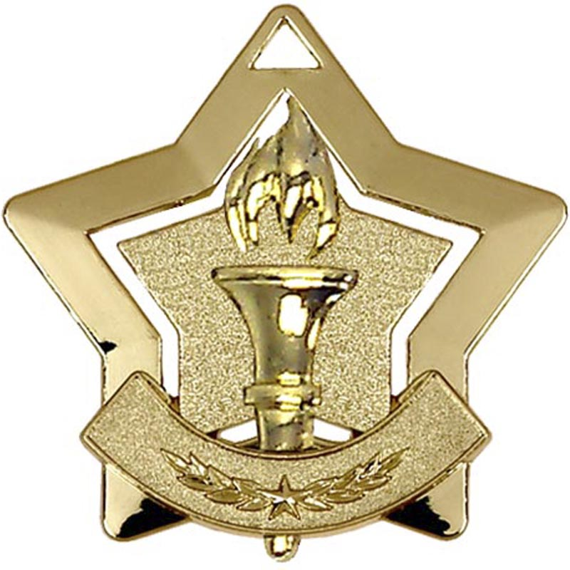 Gold Mini Star Victory Medal (size: 60mm) - AM716G