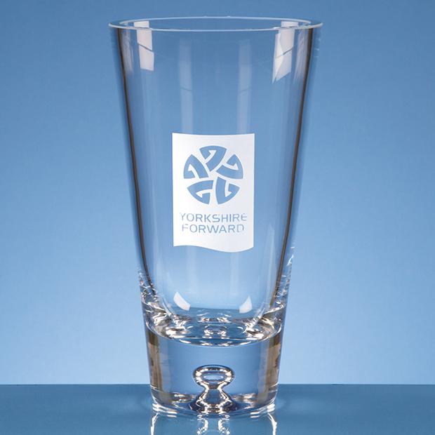 Handmade Tapered Bubble Base Vase - L469
