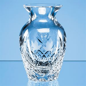 Lead Crystal Panelled Bud Vase - LOS10