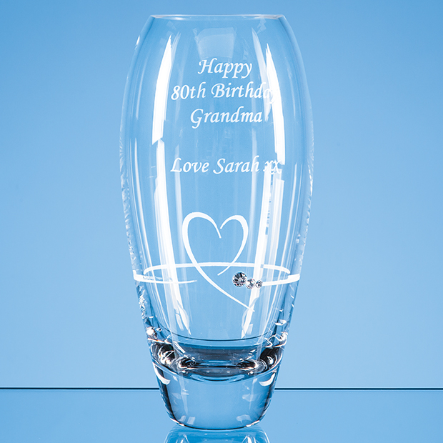 Diamante Petit Vase with Heart Design - SL603