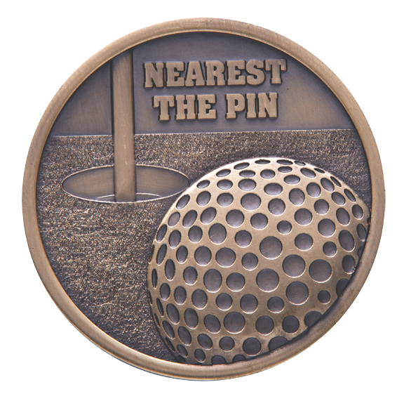 Link Nearest the Pin Golf Medal (size: 70mm) - Gold MM2028G