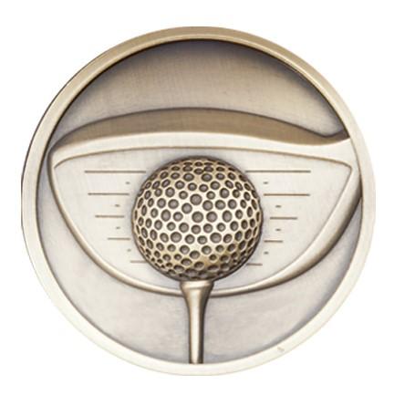 Link Golf Driver Medal (size: 70mm) - Gold MM2287G