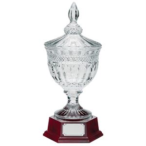 Lindisfarne St Aiden Crystal Bowl and Lid - CR17002 With Base