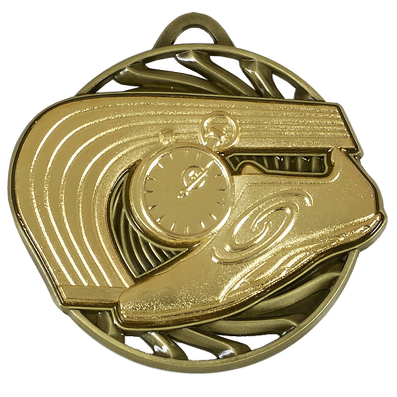 Gold Vortex Athletics Medal (size: 50mm) - AM926G