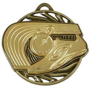 Gold Vortex Athletics Medal (size: 50mm) - AM926G
