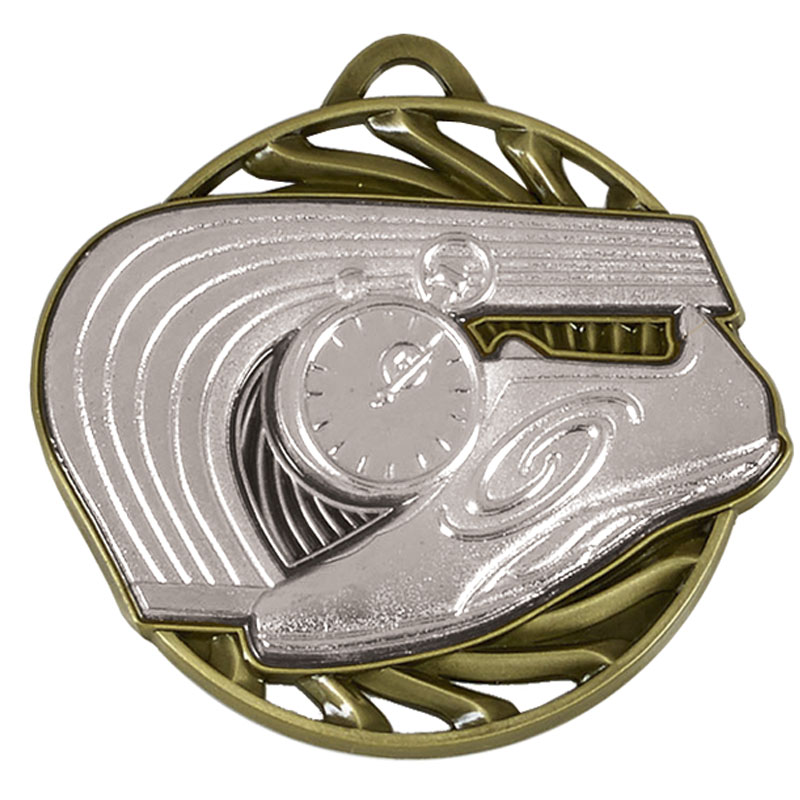 Silver Vortex Athletics Medal (size: 50mm) - AM926S