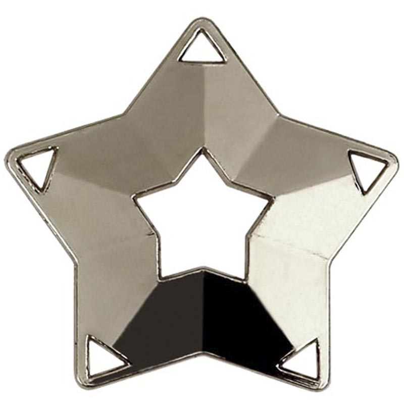 Silver Mini Star Medal (size: 60mm) - AM703S