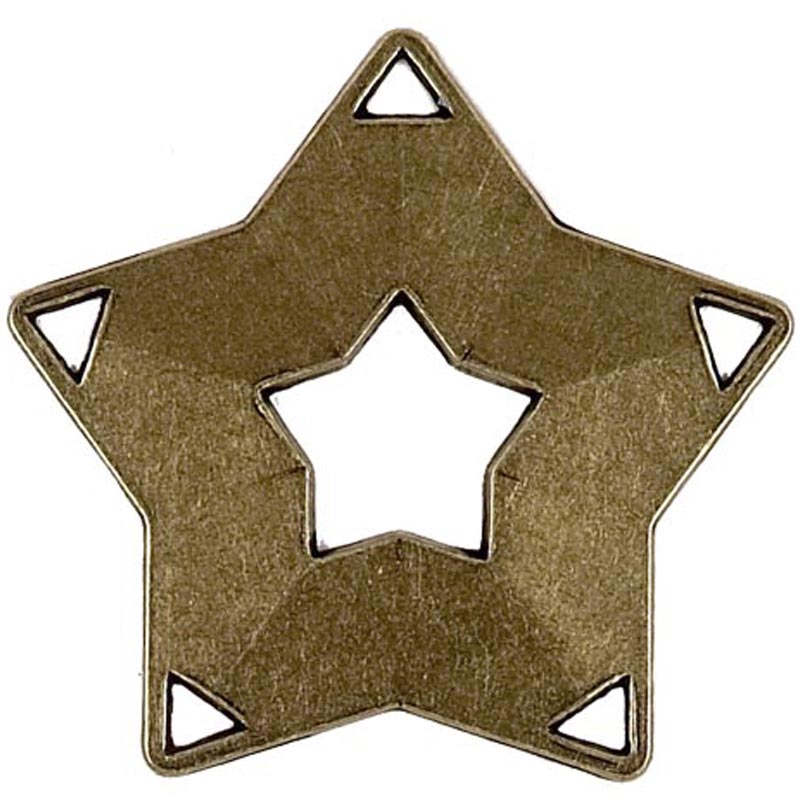 Bronze Mini Star Medal (size: 60mm) - AM703B