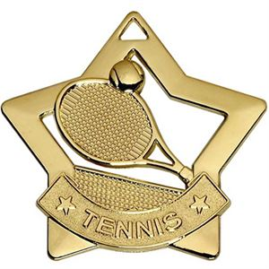 Gold Mini Star Tennis Medal (size: 60mm) - AM727G