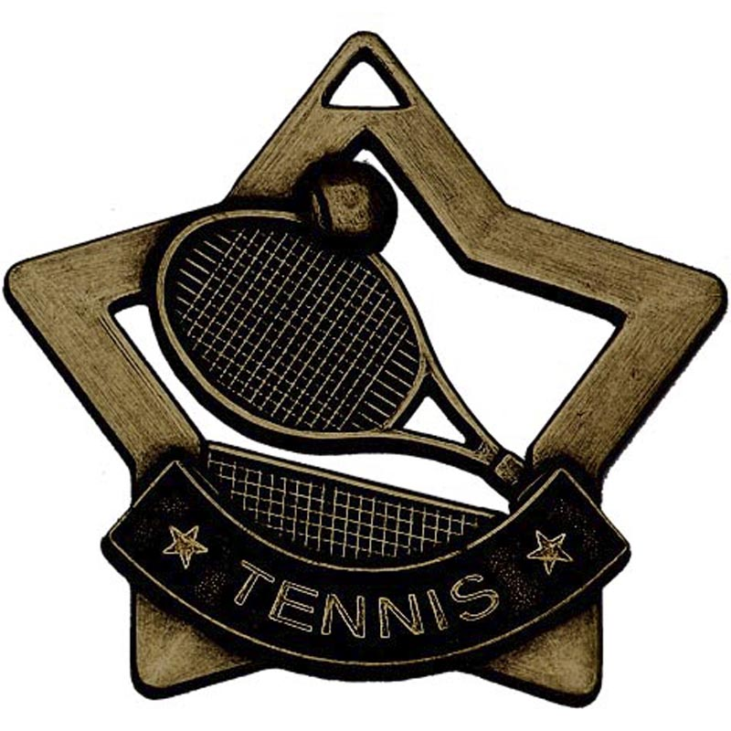 Bronze Mini Star Tennis Medal (size: 60mm) - AM727B