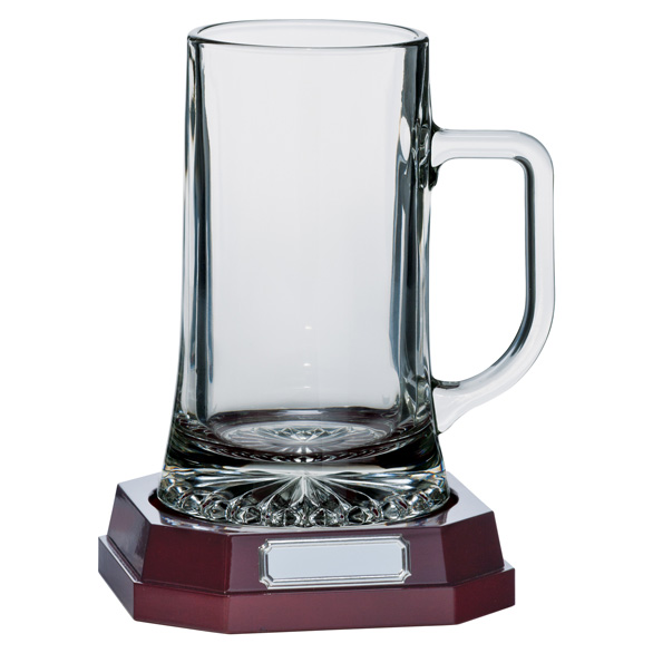 Lindisfarne St Aiden Glass Tankard with base - CR1731A