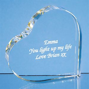 Optical Crystal Stand Up Heart - SY4003