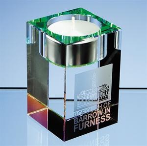 Optical Crystal Tealight Holder