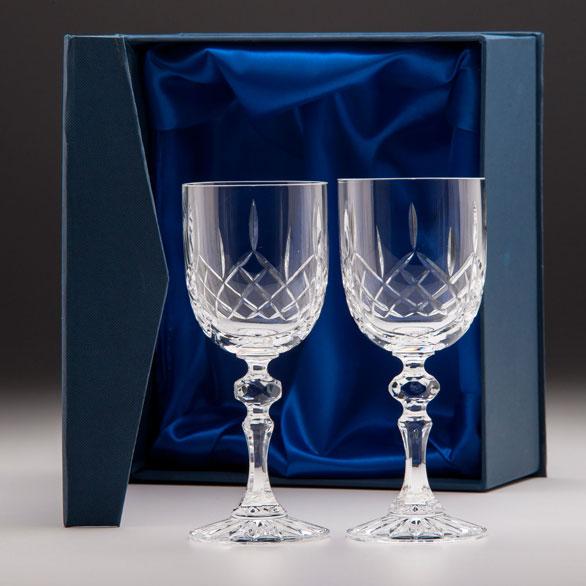 Lindisfarne Suna Crystal Wine Glasses with presentation box - CR7206