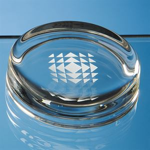 Round Glass Paperweight - F1