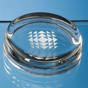 Round Glass Paperweight - F1