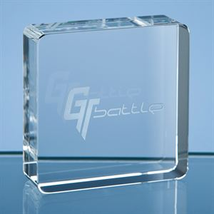 Optical Crystal Square Paperweight - SY3057